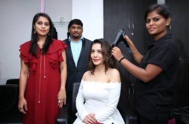 Actress Diksha Panth Inaugurates Glam Studios Unisex Salon at KPHB