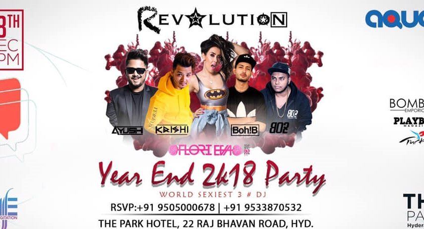 New Year Party 2019 at Aqua - The Park Hotel Hyderabad
